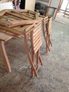 set mobilier de gradina din stejar rabatabile